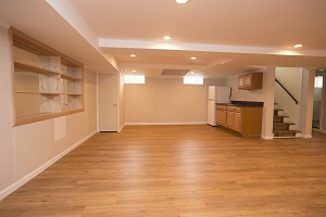 Basement finishing flooring in Brookhaven & nearby