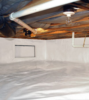 A complete crawl space repair system in Nassau County