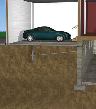 Graphic depiction of a street creep repair in a Baldwin home