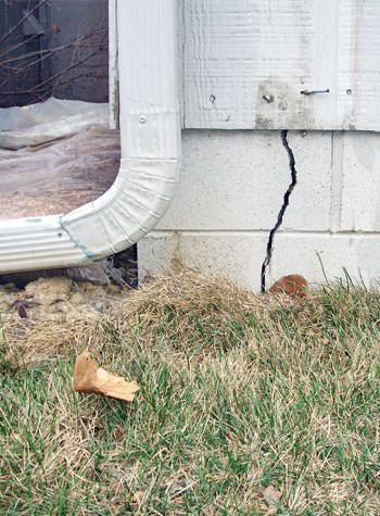 foundation wall cracks due to street creep in Bellmore