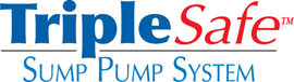 Sump pump system logo for our TripleSafe, available in areas like Central Islip