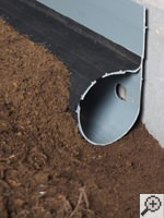 French drain for crawl space waterproofing