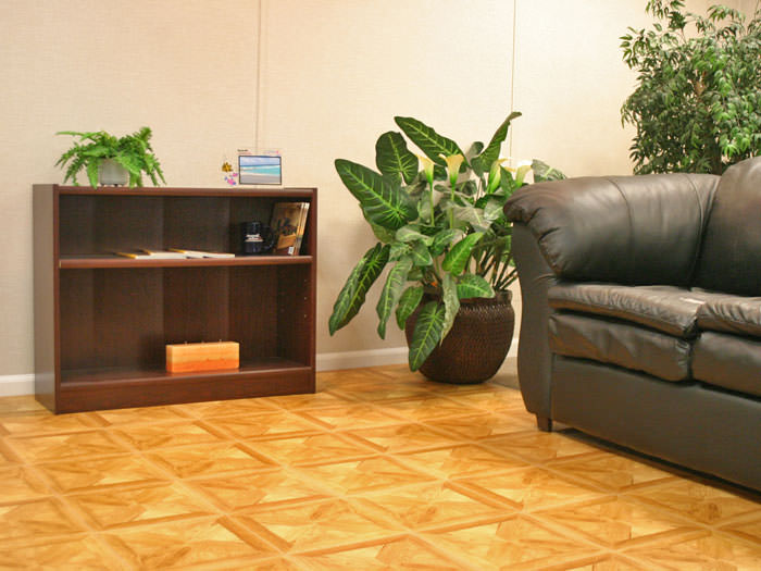 ... flooring with a parquet tile design installed in Elmont Long Island & Basement Floor Tiles in Long Island | Waterproof Basement Flooring ...